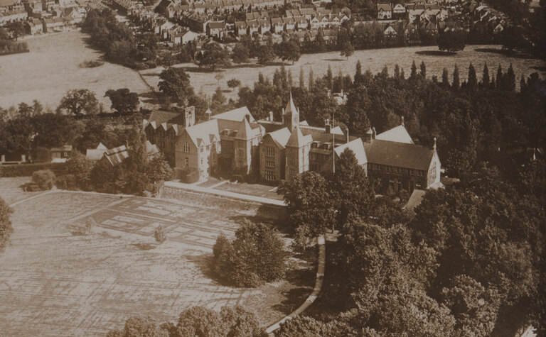 Archive aerial view image of St Margaret's School Bushey from the 1900's