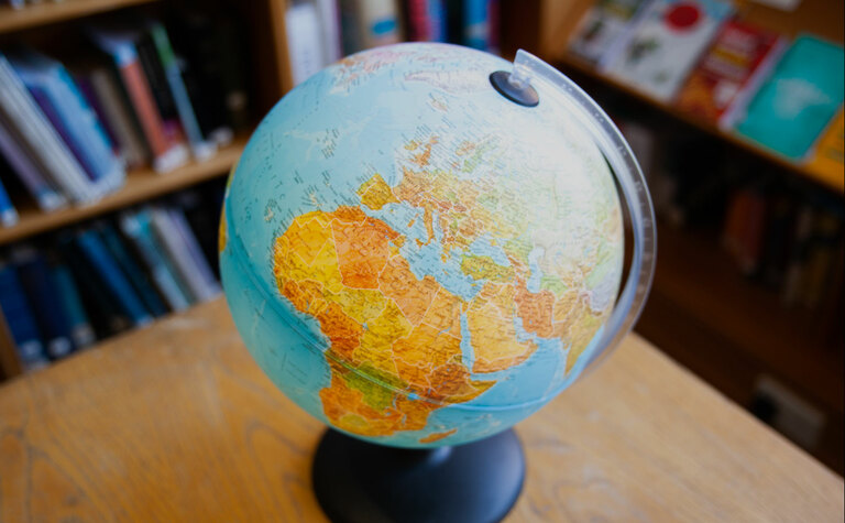 Globe at St Margaret's School to represent an international and diverse pupil community