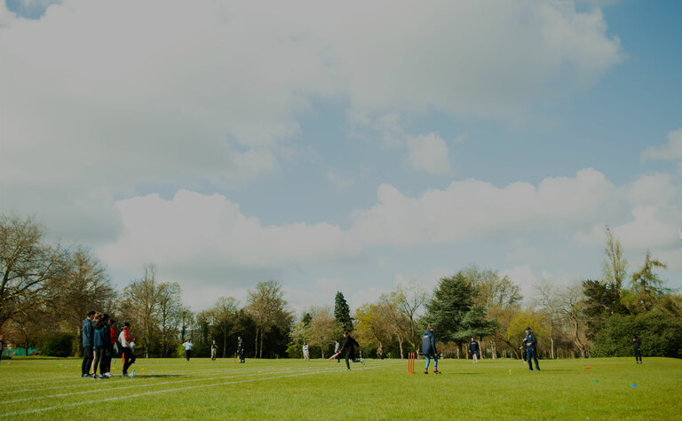 St Margarets School Rear Grounds with summer cricket match being played