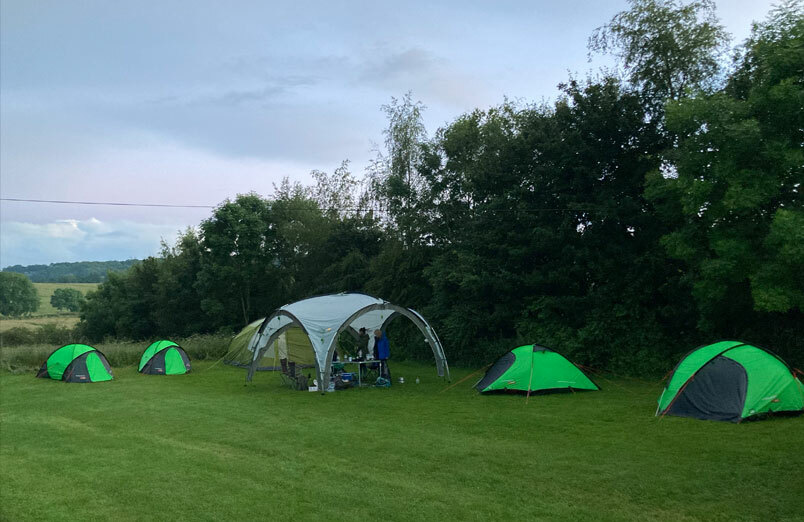 Campsite for St Margaret's School pupils on their Duke of Edinburgh's Award expedition