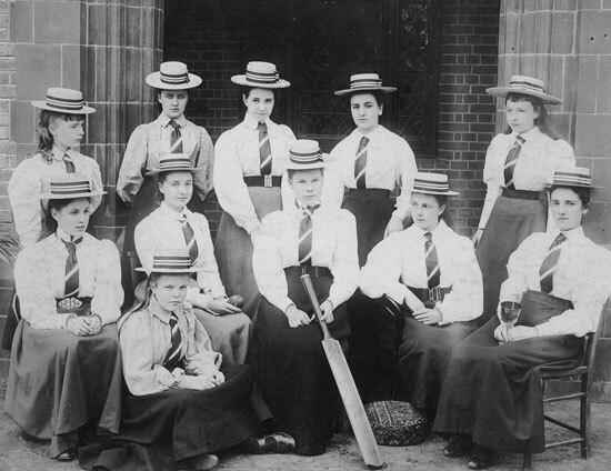 St Margarets School female cricket team in 1897