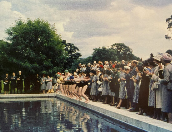 St Margaret's School 1960 Prize Giving made the most of the newly refurbished swimming pool