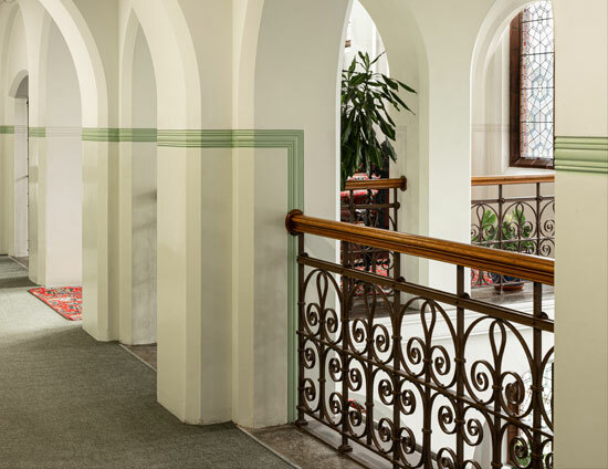 Upstairs on the main landing of the Waterhouse building at St Margarets School Bushey