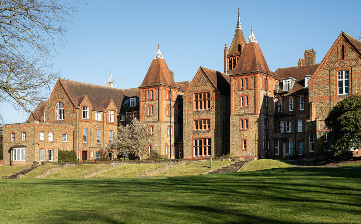 St Margarets School Rear of Waterhouse and Grounds on a sunny summer's day