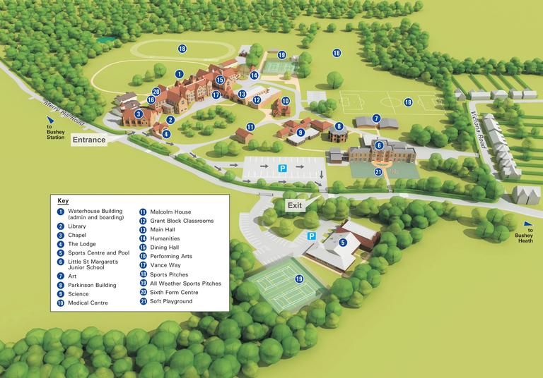 St Margarets School Bushey 3D Plan