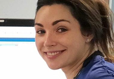 Dr Natalie Ring at work as an Emergency Medicine Registrar in London