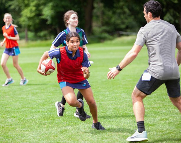 St Margaret's School Sports Masterclass with Kevin Barrett, rugby professional.